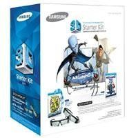 Samsung 3D Starter Kit - 2 pairs of Black 3D active glasses SSG-3100m/za by Samsung. $109.88. This 3D starter kit is compatible with select Samsung HDTVs and includes 2 pairs of 3D active glasses for viewing 3D content. The included Blu-ray Discs feature Shrek, Shrek 2 and Shrek the Third remastered in 3D for amazing images. 2011 Compatible Samsung 3D Glasses and HDTVs 3D glasses are designed to work with certain 3D HDTVs. To ensure proper operation, make sure your Samsung p...