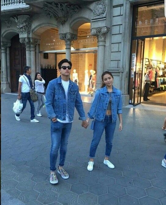 """This is the handsome Daniel Padilla and the pretty Kathryn Bernardo smiling for the camera and holding hands together while enjoying the tour of Barcelona before the taping of their upcoming movie, """"Barcelona: A Love Untold"""" somewhere in Barcelona, Spain. Indeed, KathNiel is my favourite Kapamilya love team, and they're amazing Star Magic talents. #KathrynBernardo #TeenQueen #DanielPadilla #KathNiel #KathNielBernaDilla #BarcelonaALoveUntold #KathNielinSpain"""