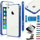 Blue Aluminium Alloy Metal Protective Case Cover W/ Stylus For Apple iPhone 4/4S