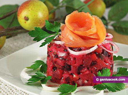 Beetroot Salad with Apples and Salmon | Dietary Cookery | Genius cook - Healthy Nutrition, Tasty Food, Simple Recipes
