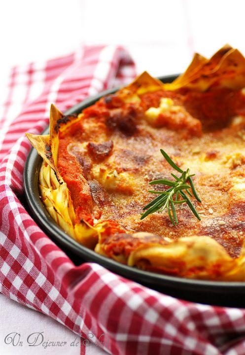 lasagne con ricotta, salsiccia e pecorino  undejeunerdesoleil.com