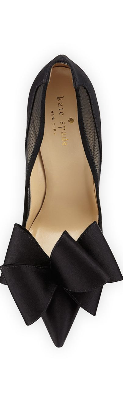 Kate Spade always knows how to turn a staple like a black stiletto into something more fun
