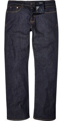 River Island MensDark wash Clint bootcut jeans