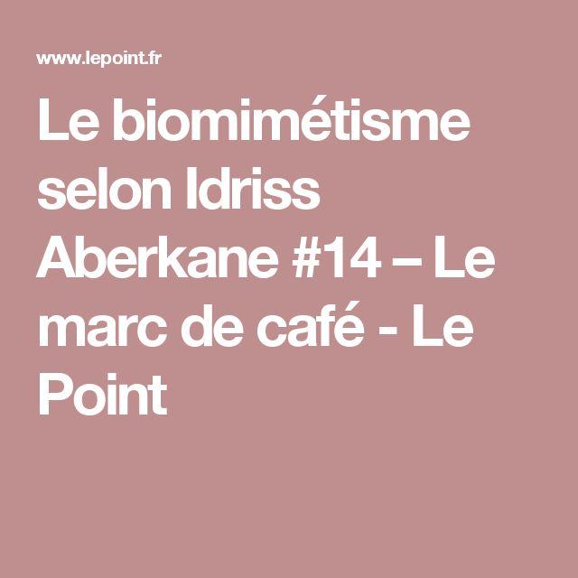 Le biomimétisme selon Idriss Aberkane #14 – Le marc de café - Le Point
