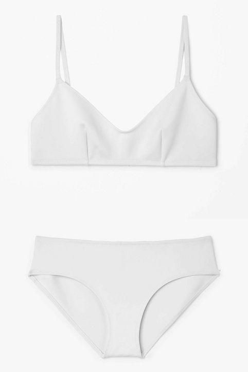 Non-see-through white swimsuit: Cos double-sided bikini