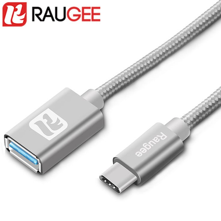 RAUGEE Type C USB C OTG Cable For OnePlus 2 Three 3T USB3.0 Type C OTG Adaptor Date Cable For UMI Super/Plus/Vernee Apollo Lite  купить на AliExpress