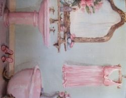 Ready to Frame Print  - Shabby Chic Claw Footed Bath - Postage is included Worldwide