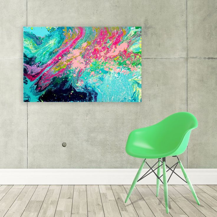 Splash original abstract expressionist fluid painting by louise mead paintings on canvascanvas