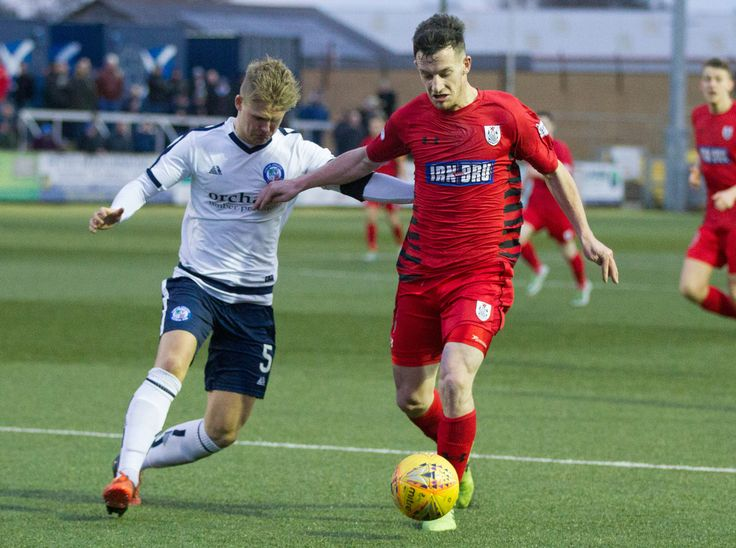 Queen's Park's David Galt in action during the SPFL League One game between Forfar Athletic and Queen's Park