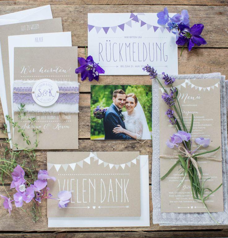 Hochzeitspapeterie Marry Paper   Kreative Einladungskarten Auf Natürlichen  Kraftpapier. #kraftpapier #hochzeit #papeterie