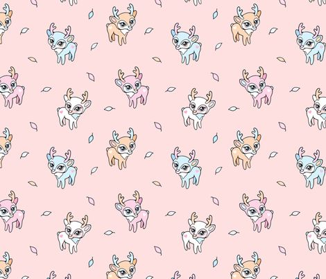 Dear Baby Deer fabric by nossisel on Spoonflower - custom fabric