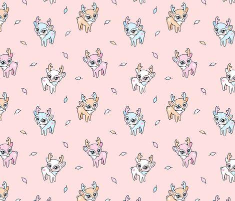 Dear Baby Deer fabric by nossisel on Spoonflower - custom fabric
