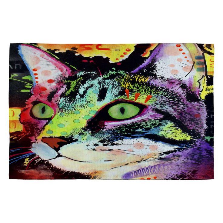 Dean Russo Curiosity Cat Novelty Rug