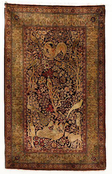 Hereke silk rug