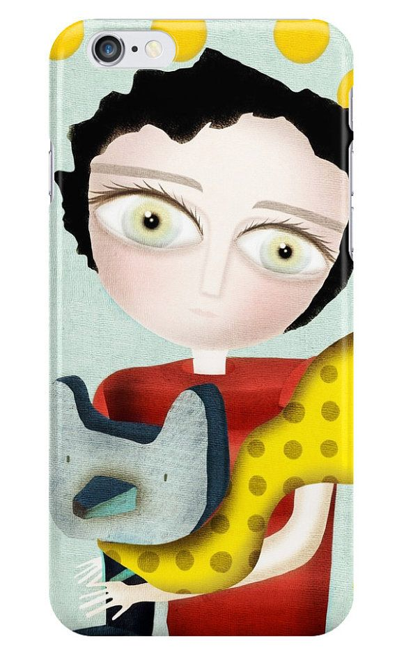 #iPhone6s /iPhone 6 Plus / iPhone 6 Huge eyes boy and Fox Black Hair and Green eyes