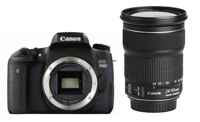 Canon EOS 760D DSLR Camera with Canon EF 24-105mm f/3.5-5.6 IS STM Lens Kit