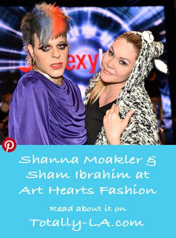 Actress Shanna Moakler with Reality TV Host Sham Ibrahim at Beverly Hills Fashion Week