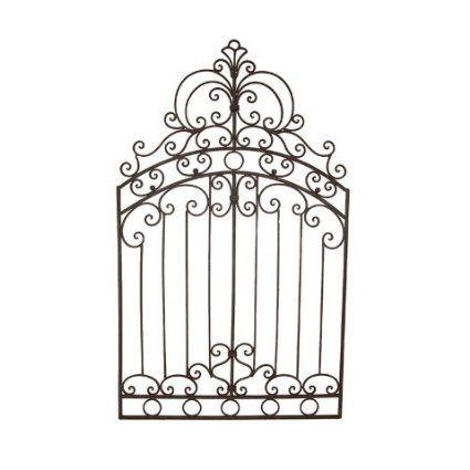 "Amazon.com - Wrought Iron Metal 50"" Tuscan Garden Gate Wall Grille Wrought iron gate as a trellis?"