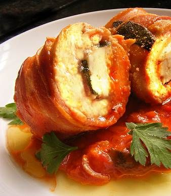 Easy Chicken, Feta and Bacon Roll-Ups in a Tomato & Rosemary Sauce | Scrumptious South Africa