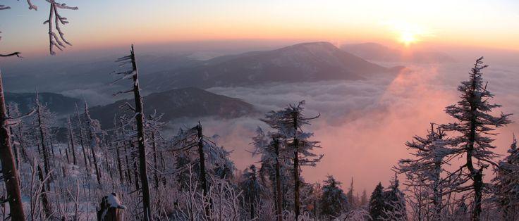 Sunset - Smrk from Lysá hora (1324m), Beskydy