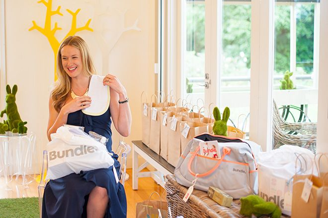 Wrap up of the 'Bumble Bee' inspired Luxury Baby Shower at the Como Stables via Mum's Grapevine - Winner Chloe pictured here with her Bundle Pre-Packed Maternity Bag - The Ultimate Baby Shower Gift. Read the full wrap up at http://mumsgrapevine.com.au/2014/07/baby-shower-inspiration-bumblebee/