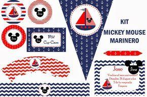Kit de fiesta Mickey Mouse marinero