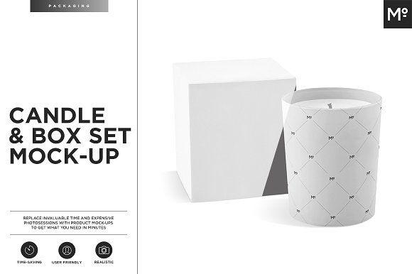 Candle and Box Set Mock-up by Mocca2Go/mesmeriseme on @creativemarket