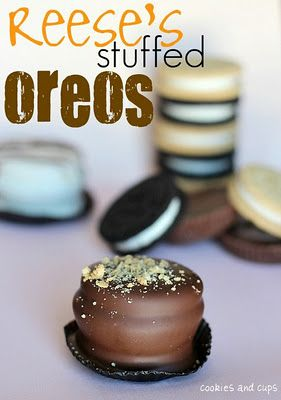 A Bit of Bees Knees: Mmm...Reese's Stuffed Chocolate Covered Oreos