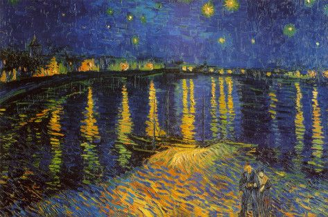 Starry Night Over the Rhone by Vincent van Gogh - c.1888 http://www.voteupimages.com/starry-night-over-the-rhone-by-vincent-van-gogh-c1888/