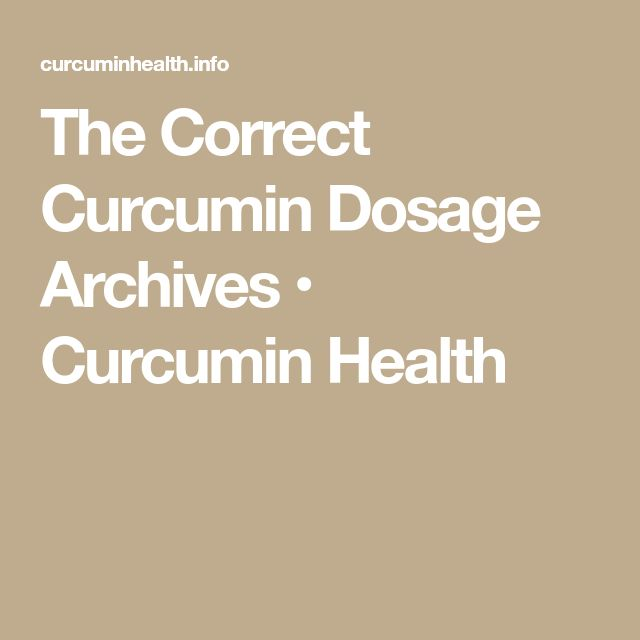 The Correct Curcumin Dosage Archives • Curcumin Health