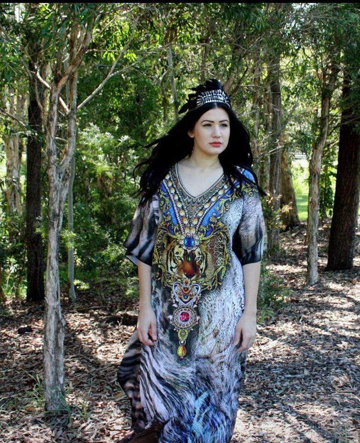 New 2015 Tribal Stuuning Kaftan Tunic Dress from www.kaftanallure.com