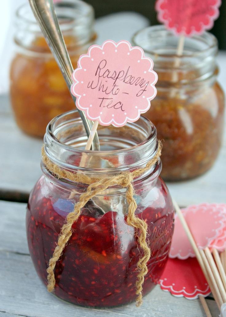 Raspberry & White Tea and Peach Rooibos Tea Jams. Honey Sweetened/Pectin Free GAPS/Paleo/SCD