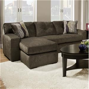 American Furniture 5100 Group Small Sectional Sofa With Chaise Ottoman    Unclaimed Freight Co. U0026