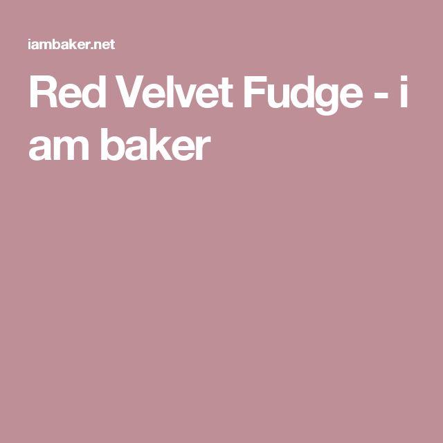 Red Velvet Fudge - i am baker
