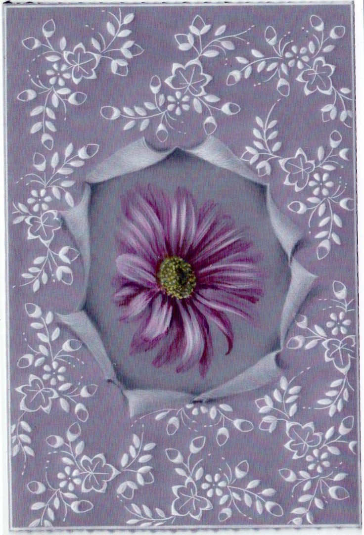 Lacy Daisy – A Card Pattern Project DHProject 11 by Dorothy Holness