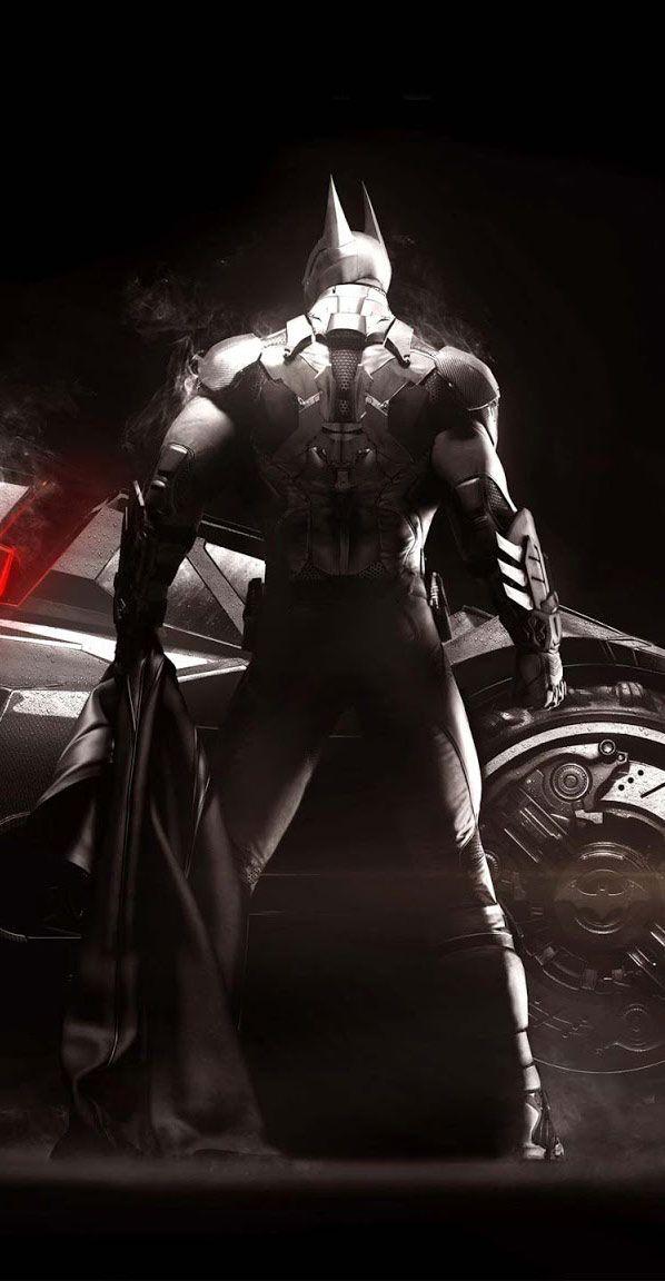 Batman Arkham Knight Batmobile Game desktop hd wallpaper free.