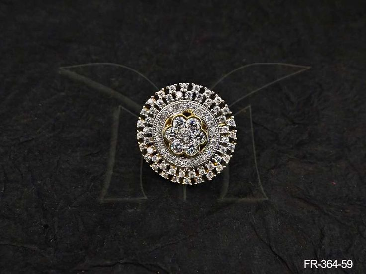 ROUND WHEEL STYLE IN FLOWER AD FINGER RING