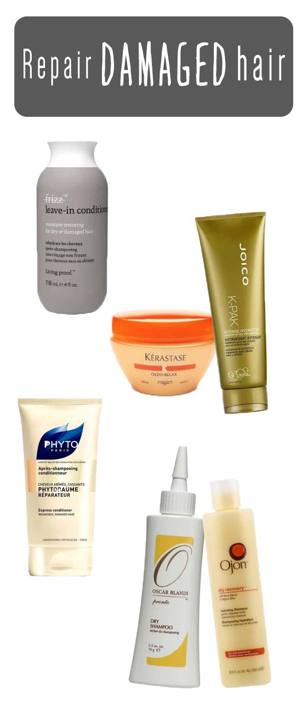 Step by step guide for repairing damaged hair.