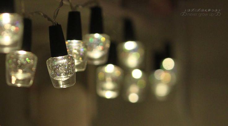 never grow up: kynsilakkaputelit valonauhassa ? // DIY