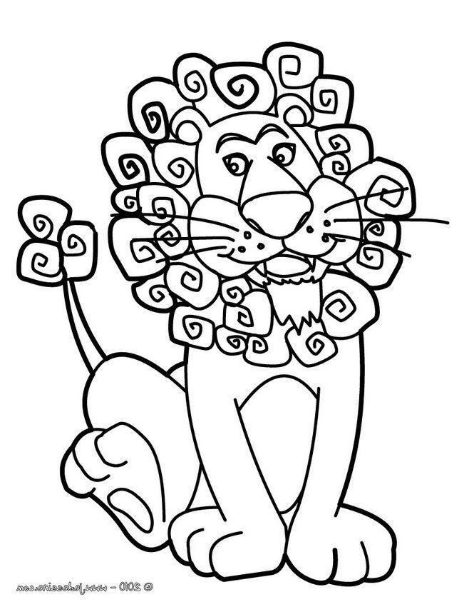 Coloriages coloriage du roi des animaux fr hellokids ...