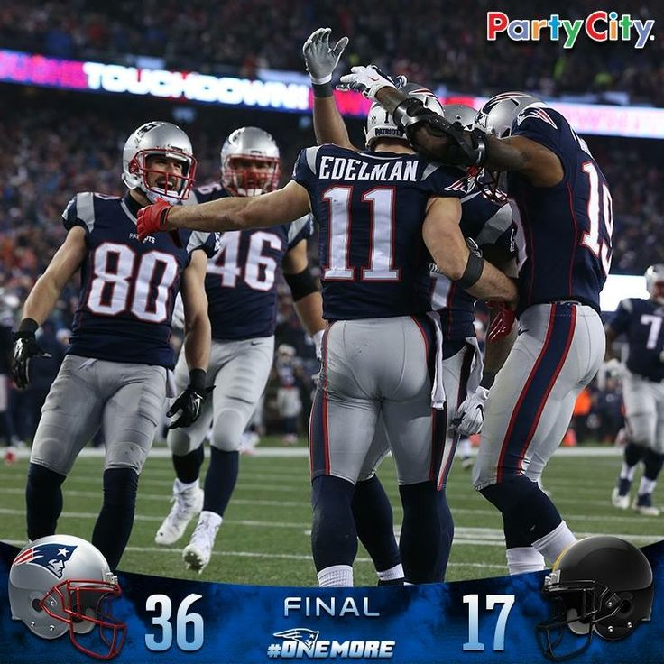 #Patriots win 36-17 and advance to an NFL-record ninth Super Bowl! #OneMore