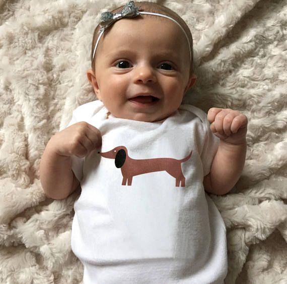 Vestiti del bambino bassotto Dachshund bambino Body vestiti