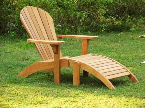 Outdoor Teak Adirondack Chair Ottoman