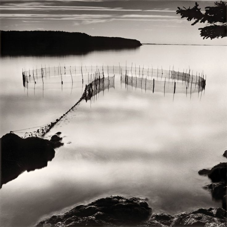 Fishing Weir at Night, toned silver prints, 14 x 14 | Courthouse Gallery Fine Art | 207 667 6611 | Lisa Tyson Ennis