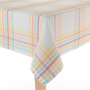 Amazing Blossoms U0026 Blooms Spring Plaid Tablecloth   60u0027u0027 X 120u0027u0027