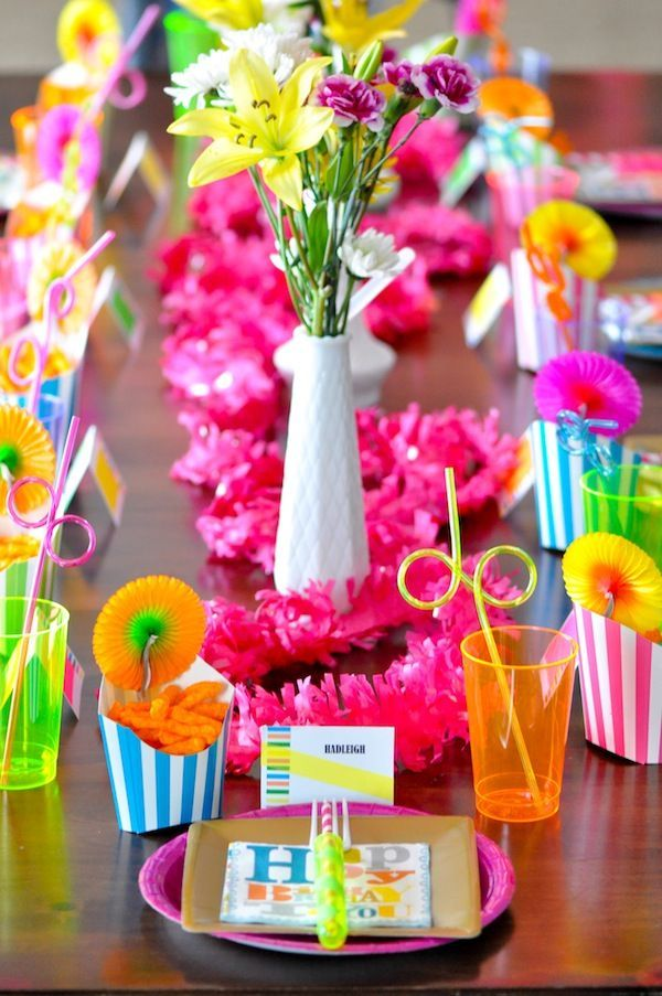 colorful decorations for a kids party