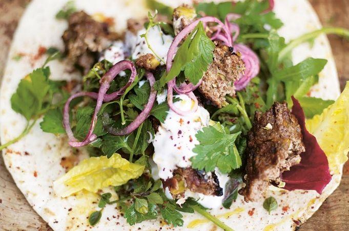 Grilled Lamb Kebabs - Jamie at Home