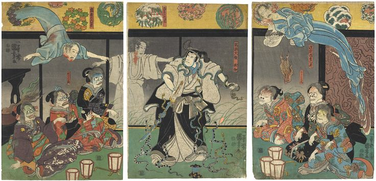 Kabuki Scene from Higashiyama Sakura Soshi by Kuniyoshi / 東山桜荘子 国芳