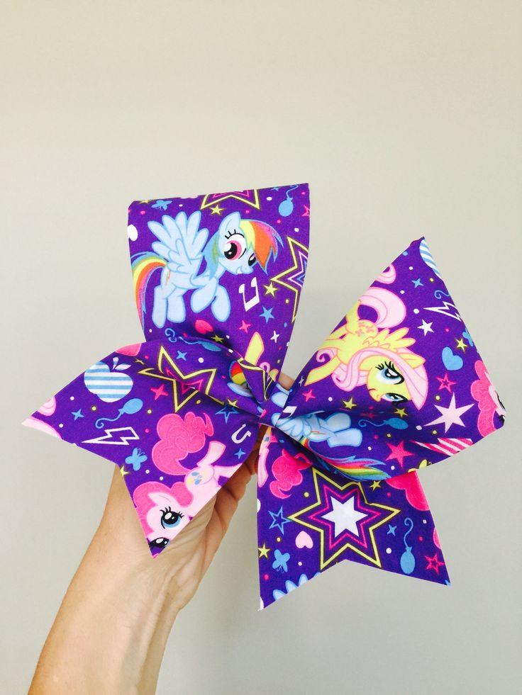 My little Pony Big Purple cheer bow Rainbow Dash and ponies