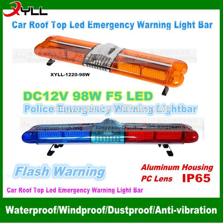 12V led used police light bar emergency warning strobe 16 flashing patterns light bar